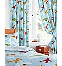 Aeroplane Lined Curtains & Tie Backs