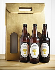 Personalised Set 3 Real Ales in Gift Box