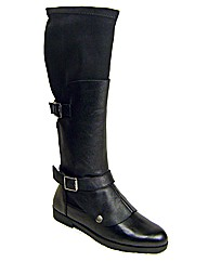 Cafe Noir Black Leather Boots
