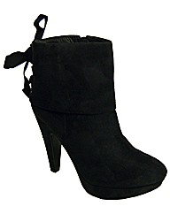 Cafe Noir Platform Ribbon Ankle Boots
