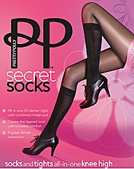 Pretty Polly Secret Socks Modal Tights