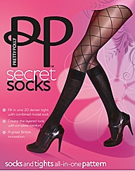 Pretty Polly Secret Socks Pattern Tights