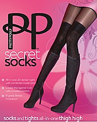 Pretty Polly Secret Socks OTK Tights