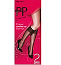 Pretty Polly Curves Knee Highs Pk4