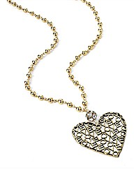 Petal Dolls Gold Heart Necklace