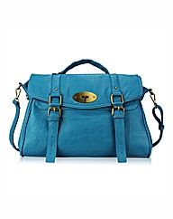 Petal Dolls Teal Messenger Bag