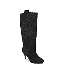 Marta Jonsson black suede knee boot