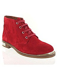 Marta Jonsson red suede ankle boot