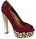 Ravel Keegan platform peep toe court