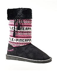 Pineapple Bizarre Knit Top Fashion Boot