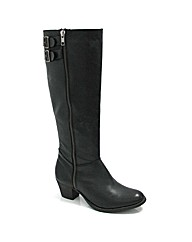 Marta Jonsson black leather knee boot
