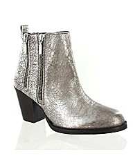 Marta Jonsson silver leather ankle boot