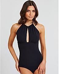 Icon High Neck Keyhole Swimsuit