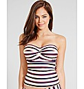 Santa Cruz Stripe Bandeau Tankini Top