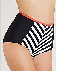 Rita Chevron High Waisted Bikini Brief