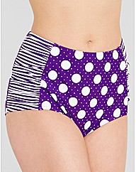 Pin up High Waisted Bikini Brief