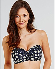 Flora Underwired Frill Bandeau Top