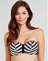 Rita Chevron UW Bandeau Bikini Top
