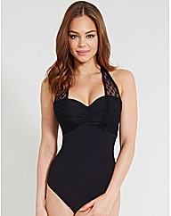 Icon Spot Mesh D-G Halter Swimsuit