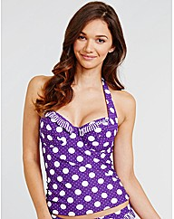 Pin up UW Adjustable Side Tankini Top