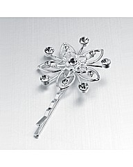 Silver Coloured Flower Grip