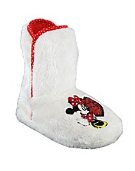 Minnie Barbara Bootie Slipper
