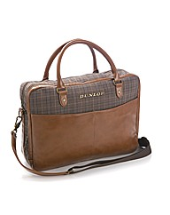 Dunlop Check/Tan Despatch Bag