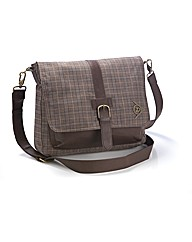Dunlop Check Satchel Bag