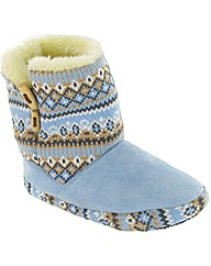 Divaz Knit Toggle Slipper Bootie