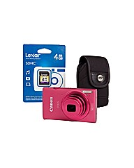 Canon Ixus 240 HS Pink Camera Kit