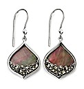 Mother of Pearl & Marcasite Earring