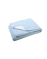 Cable Sherpa Blanket Blue