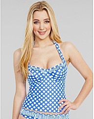 Pin Up Underwired Halter Tankini Top