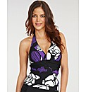 Rene Soft Cup Halter Tankini Top