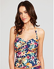 Lei Underwired Bandeau Tankini Top