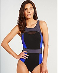 Jet Active Mesh Trim Shaping Swimsuit