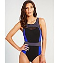 Jet Active Mesh Trim Swimsuit