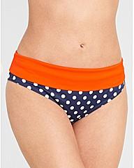 Tuscany Spot Fold Bikini Brief