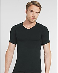 Tops Short Sleeve V Compression