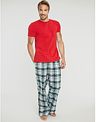 Flannel Check PJ Bottom and Jersey Set