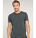 Metallic Cotton Modal V Neck T shirt
