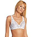 Naturana White Two Section Cup Bra