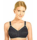 Naturana Black Firm Control Bra
