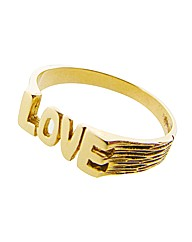 9ct Yellow Gold Love Message Ring