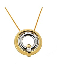 9ct Yellow Gold Diamond Loop Pendant