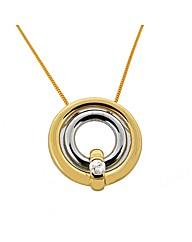 9ct Yellow Gold Diamond Loop Pendant