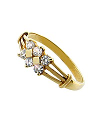 9ct Yellow Gold Cubic Zirconia Ring