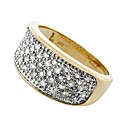 9ct Yellow Gold 0.50ct Pave Ring