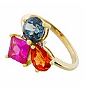 9ct YG Multi Stone Ring
