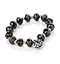 Clear Glass stone Beaded Ball Bracelet